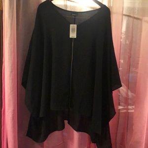 Torrid black sheer top!NWT!!! Tunic/poncho style!